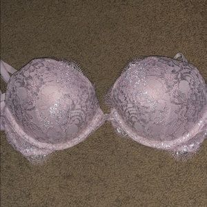 Vs Angel Lavender Lace Push Up Bra